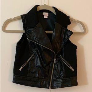 Little Girls Faux Leather Vest